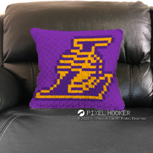 Load image into Gallery viewer, Los Angeles Lakers Blanket and Pillow