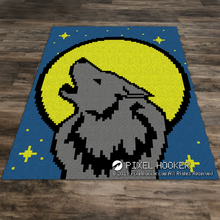 Load image into Gallery viewer, Wolf and a Full Moon