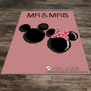 MR and MRs Mickey and Minnie