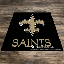Load image into Gallery viewer, New Orleans Saints Logo (Black)