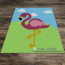 Load image into Gallery viewer, Flamingo Enjoying Summer