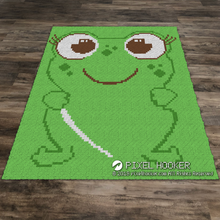 Load image into Gallery viewer, Smiley Frog Outline
