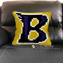 Load image into Gallery viewer, Baltimore Ravens Blanket and Pillow