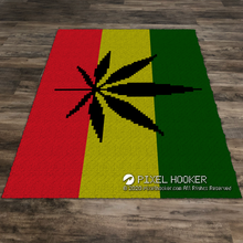 Load image into Gallery viewer, Reggae Weed Flag