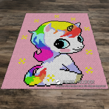 Load image into Gallery viewer, Sitting Unicorn (Pink)