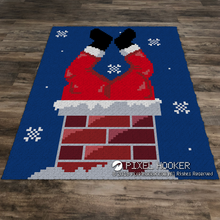 Load image into Gallery viewer, Stuck Santa (Snow)