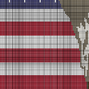 United States flag with an Eagle (Row by Row)