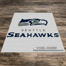 Load image into Gallery viewer, Seattle Seahawks Logo (White)