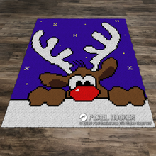Load image into Gallery viewer, Peeking Reindeer