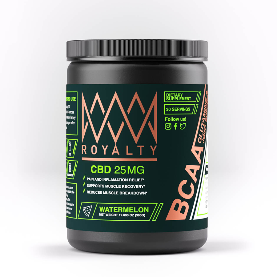 Royalty Extract: CBD infused BCAAS - Watermelon Flavor