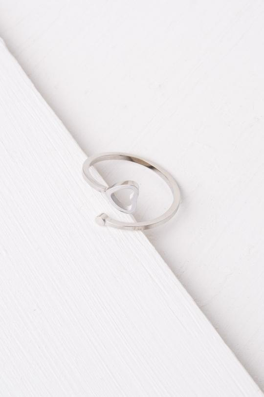 Ada Silver Heart Ring
