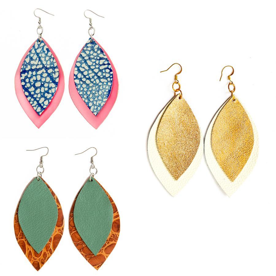 DuHope Two Leaf Earrings