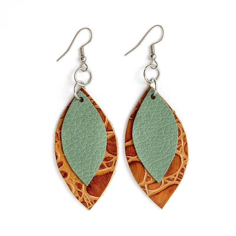 DuHope Mini Two Leaf Earrings