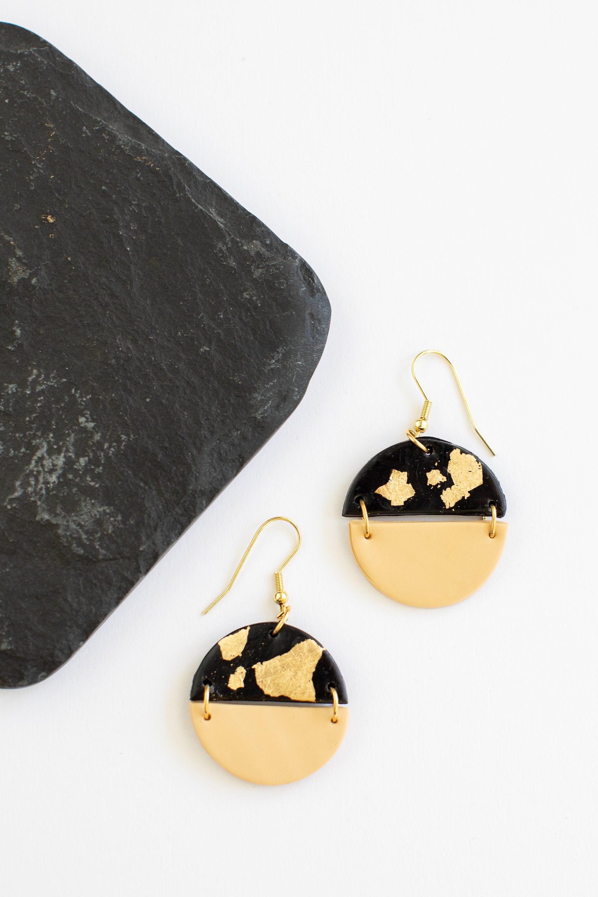 Golden Sunset Clay Earrings