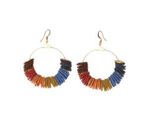 Funky Leather Earrings