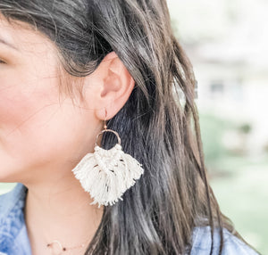 Wings Macrame Earrings