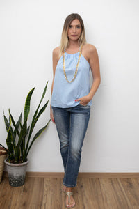 TOP COLLAR - BLUE