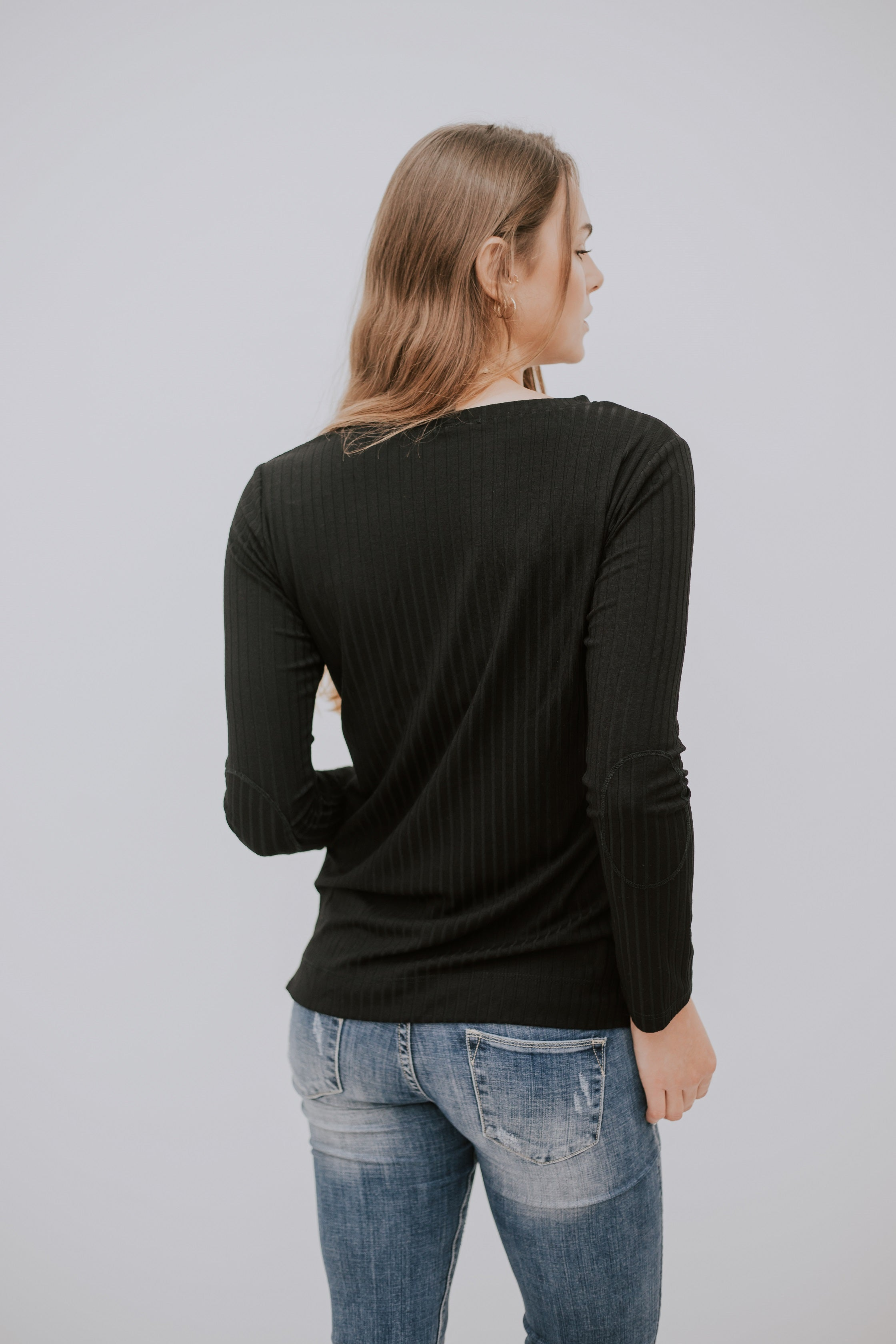 LONG BASIC SHIRT - BLACK