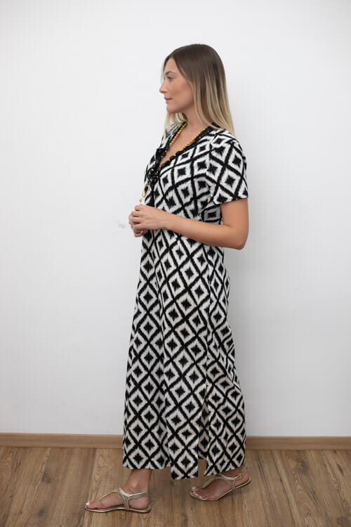 SOPHIA DRESS - BLACK AND WHITE