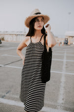COLLAR STRIPES DRESS
