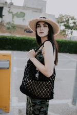MACRAME BASKET - BLACK