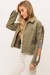 Army Green Trucker Jacket