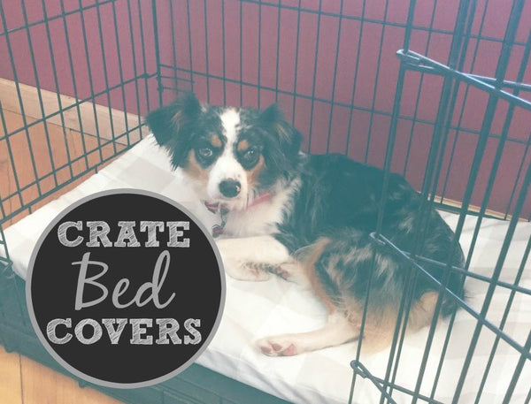 Crate Dog Bed Cover WITH Liner, MANY Fabrics