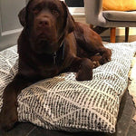 Luxe Tough Wolfii Dog Bed Cover in Foster Ink Oatmeal, SM to XL Covers for Dog Beds