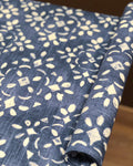 Avila Prussian Blue Canvas Dog Crate Cover and Dog Bed Cover COMBO