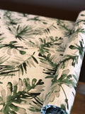 Luxe Dog Crate Cover and Dog Bed Cover COMBO, Frond Lubu Oatmeal Flax Collection