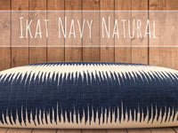 Luxe Ikat Navy Natural Tough Dog Bed Cover, SM to XL Covers for Dog Beds