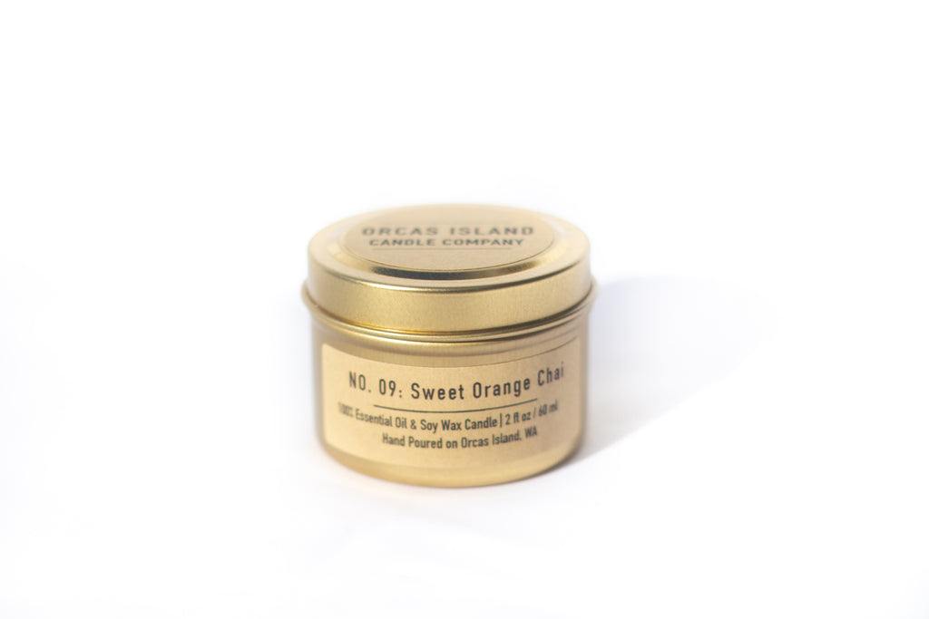 No. 9: Sweet Orange Chai - 2 Oz Gold Mini