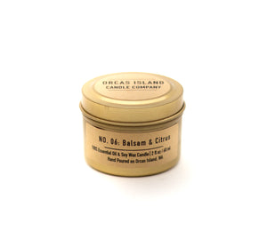 No. 6: Balsam & Citrus - 2 Oz Gold Mini