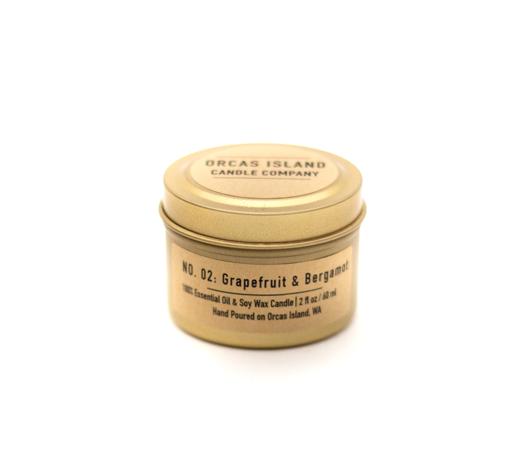 No. 2: Grapefruit & Bergamot - 2 Oz Gold Mini