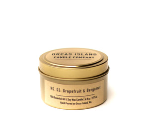 Grapefruit & Bergamot - 6 Oz. Travel Tin