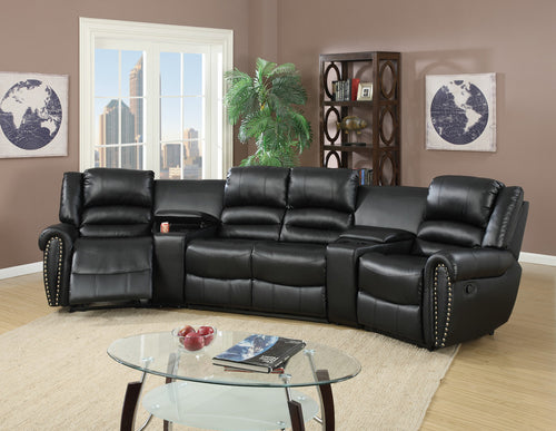 Black leather sectional sofa - RAZOUTLETS furniture store