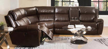 Power Motion Brown Leather Sectional Sofa in razoutlets