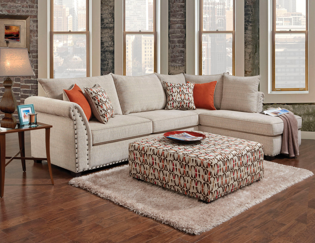 Over sized two piece sectional in Razoutlets Warehouse