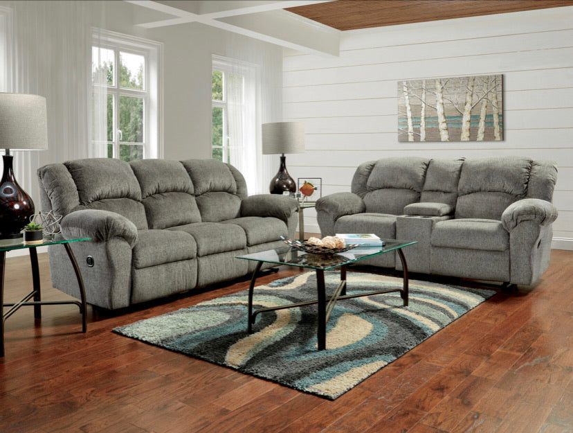 Picture of Gray textured motion sofa set