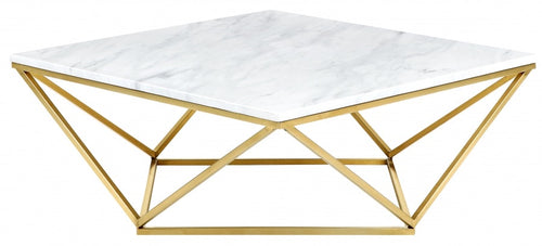 Mason Gold Coffee Table With Stylish Stones