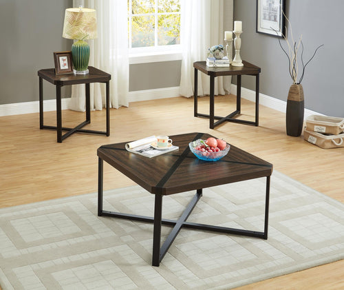 Modern Square 3pc Table Set for Living Rooms