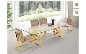Pierre Gold Dining Table In Dashing Look