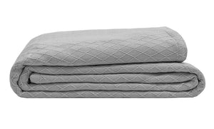Organic bamboo blanket in grey color