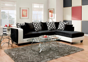 Black Cat Sectional Sofa For Living Rooms - RAZOUTLETS furniture store