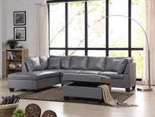 Pure Leather Sectional And Ottoman
