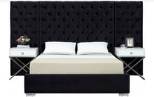 Grande Velvet Bed in black color