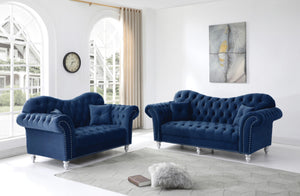 Blue Glamour sofa set - in razoutlets furniture warehouse