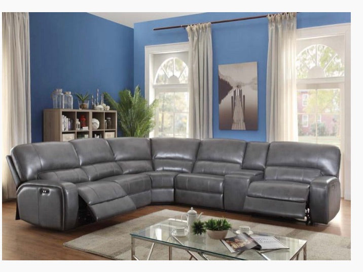 Power Sectional Sofa In Grey Color