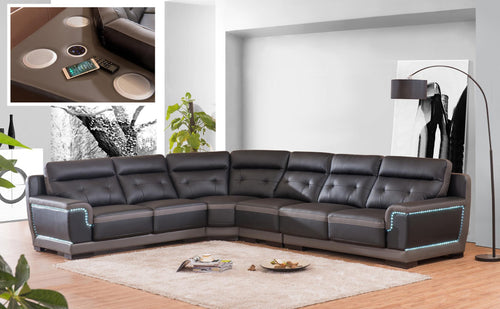 Black And Grey Sectional Sofa - RAZOUTLETS Furniture Store