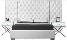 Grande Velvet Bed in White color